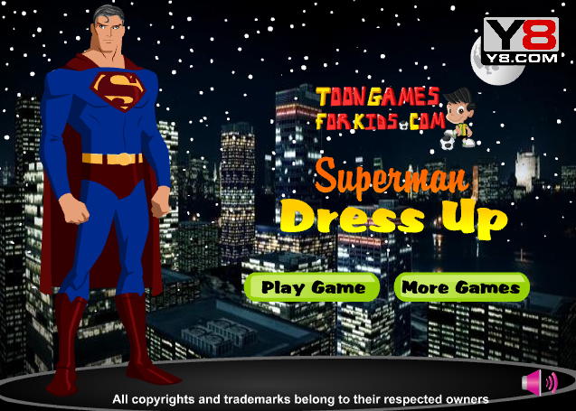 Dress up game for Superman