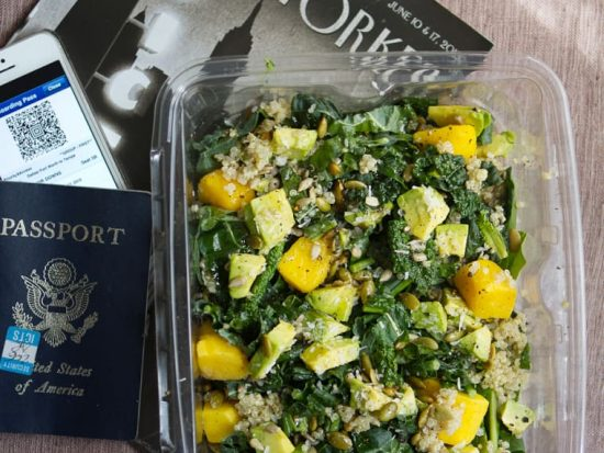Airplane Salad with Greens, Grains & Seeds