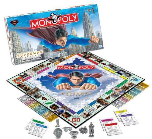 Superman-themed Monopoly board