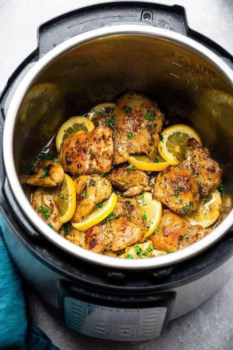 Instant Pot Lemon Garlic Chicken 5
