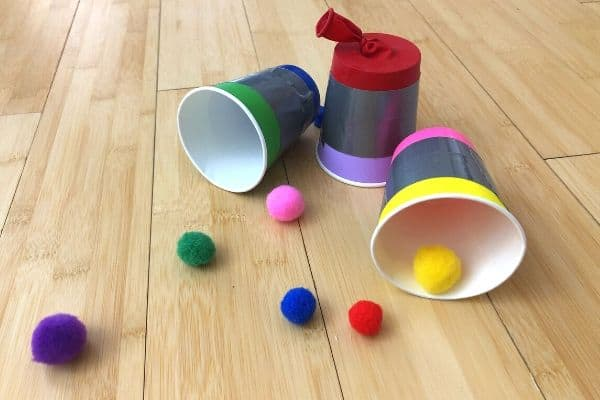 Paper Cups with Pom Pom Shooters