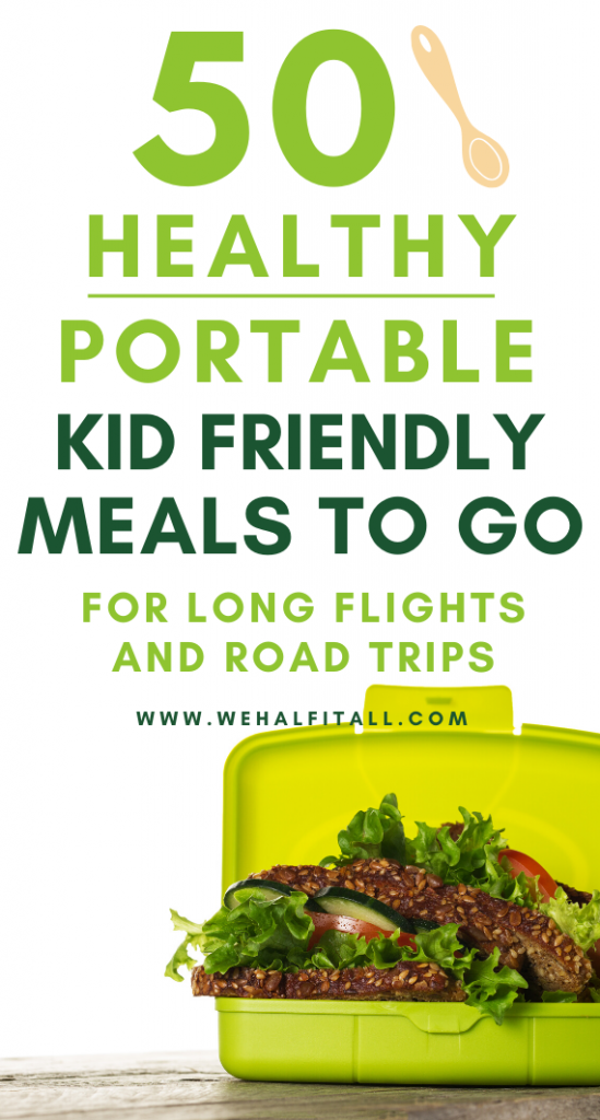 Awesome! -- Get 50 FREE time saving, portable meal recipes for long roadtrips and airline flights. Did I mention it's EASY + kid friendly to make ahead! | TSA approved, portable meals, food on the go, road trips, lunch on the go, healthy packable lunches, no heat super easy meals, travel friendly, flight meals, meals to go for a crowd, big families, for picky eaters, easy cheap frugal meals, make ahead meals, no fridge meals, airline, flight food, easy dinner idea, easy recipes, lunch box ideas
