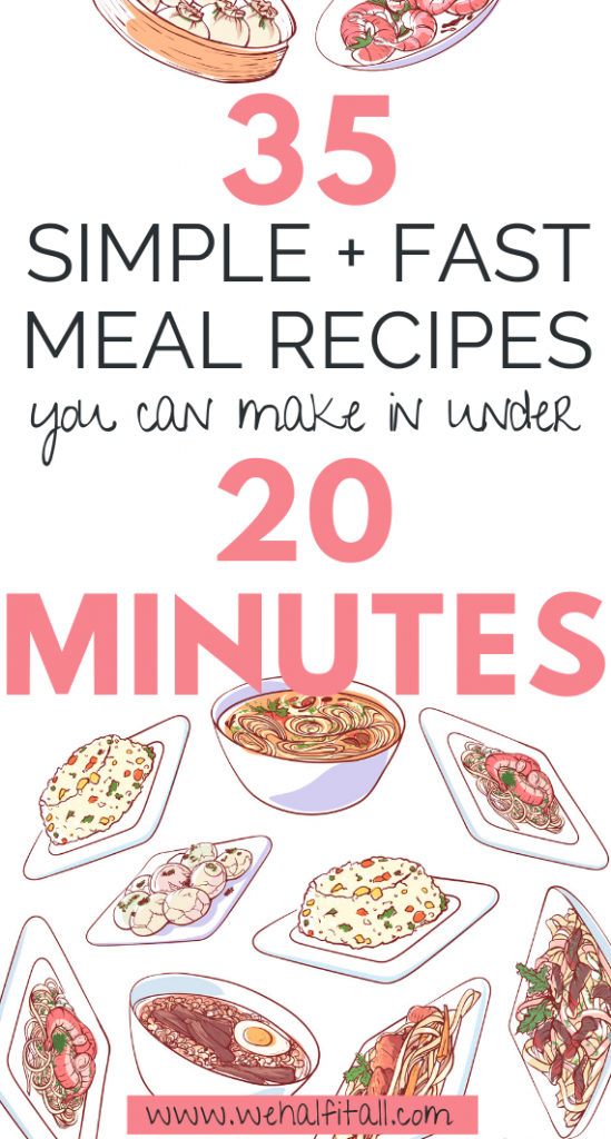 ho has time to prepare breakfast lunch or dinner when you're already running late or tired? Here's 20 scrumptious, yummy speedy quick meals + recipes to try if you're out of time, on a budget, or both! - Simple Fast Easy Meals 20 Minute Meal Ideas Recipes Super Quick To Make Prep Mexican Dinner, For Two, Family, Meal Plan, Chicken, For Kids, Healthy, Cheap, Pasta, For Kids, Budget, 5 Ingredients Meals, Asian, Rice, Easy meal prep for beginners for the week, Chicken Inspired For One, Lunch Ideas