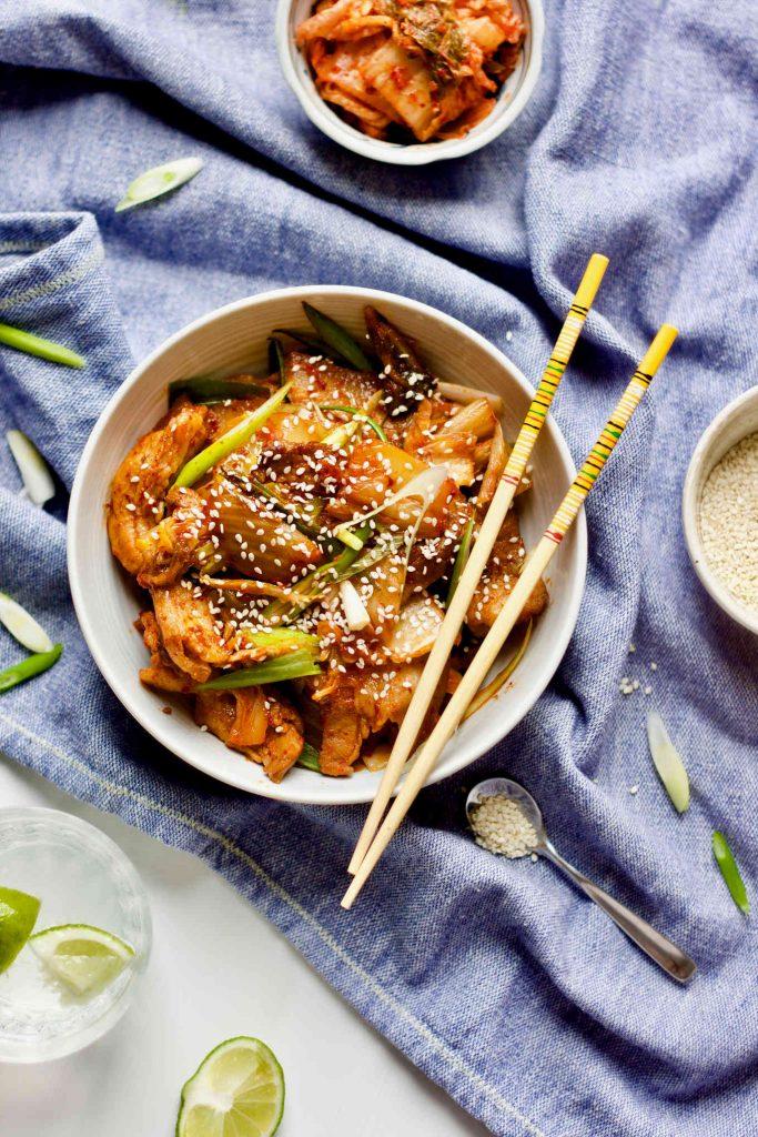 Stir fry Kimchi Pork Belly Yangs Nourishing Kitchen 1 keto