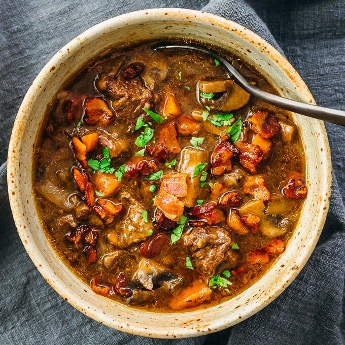 instant pot beef bourguignon 7