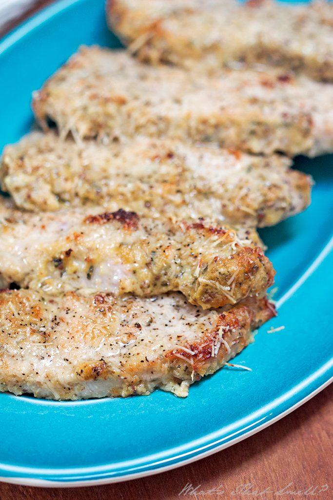 low carb parmesan dijon pork chops wm
