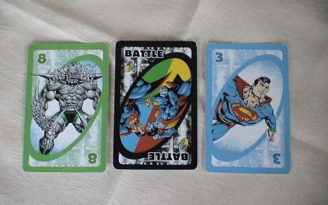 UNO card Superman edition
