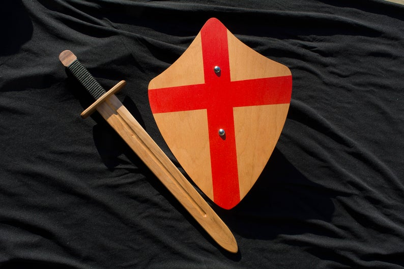 wood knife and shield