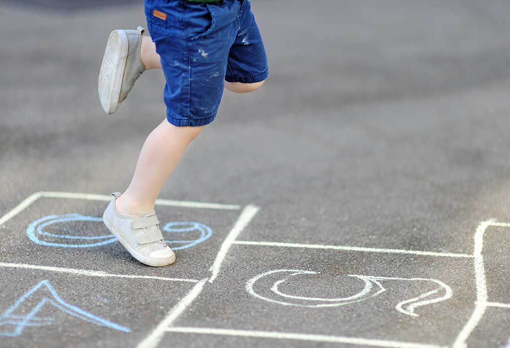 numbered hopscotch game