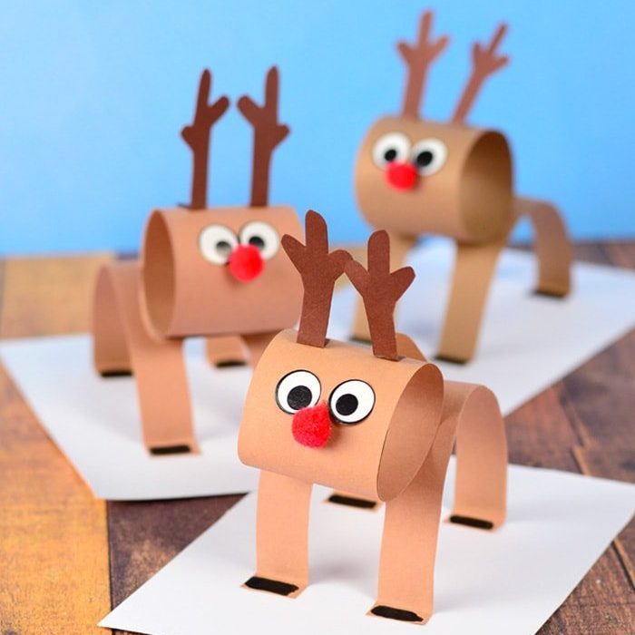3D Construction Paper Reindeer