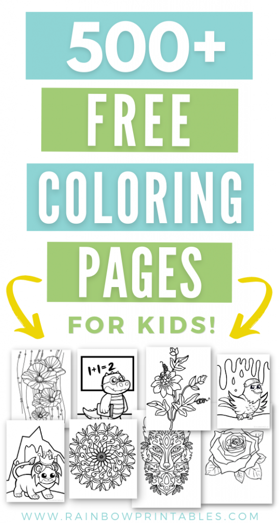 500 Pages of Free coloring pages for kids printable Christmas for toddlers Valentines Day Hallloween Freebie Download Unicorn Cute Easy Simple for Children Art