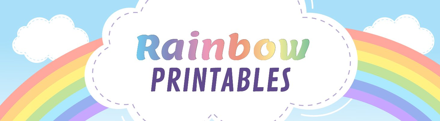 Rainbow Printable Website Banner