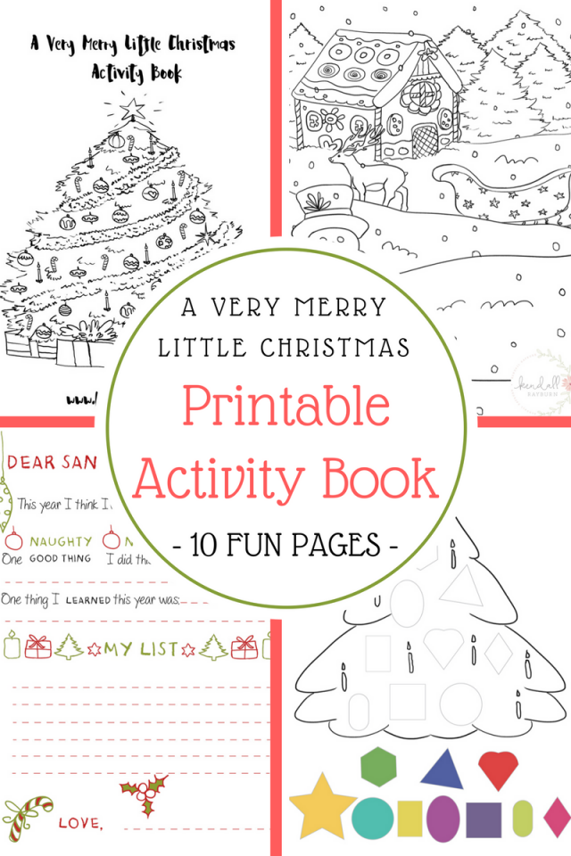 Christmas-themed activity worksheets