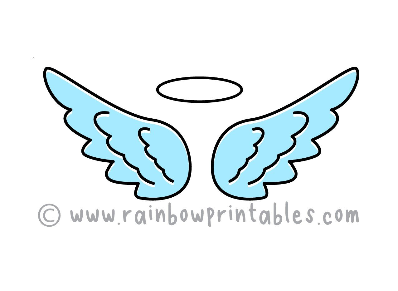 Easy To Draw Cartoon Angel Wings for Young Kids (Step By Step)