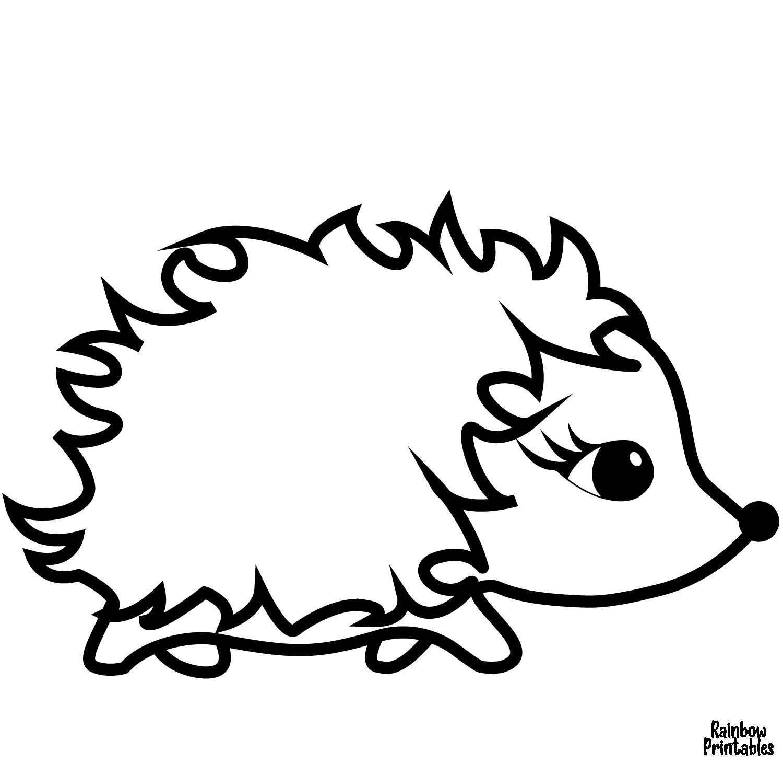 Baby coloring page cute cartoon hedgehog coloring page