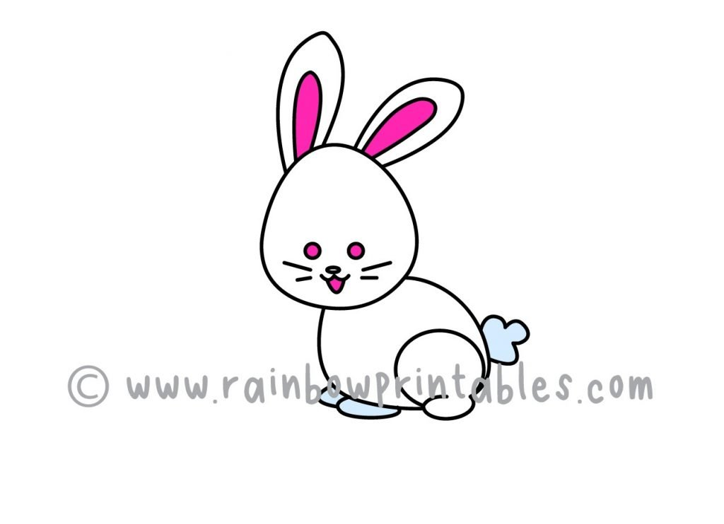 How To Draw A Cute Bunny Rabbit 🐇 (Step By Step In Time For Easter) -  Rainbow Printables