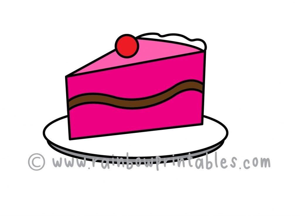 How To Draw a CAKE SLICE SWEET DESSERT Step by Step for Beginners and Kids   Easy and Simple   Printable Drawing Worksheet