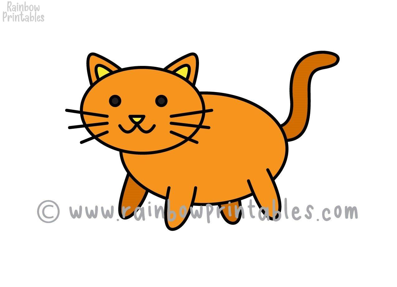 How To Draw a Very Easy Kitty Cat (Simple 8 Step Guide for Kids)