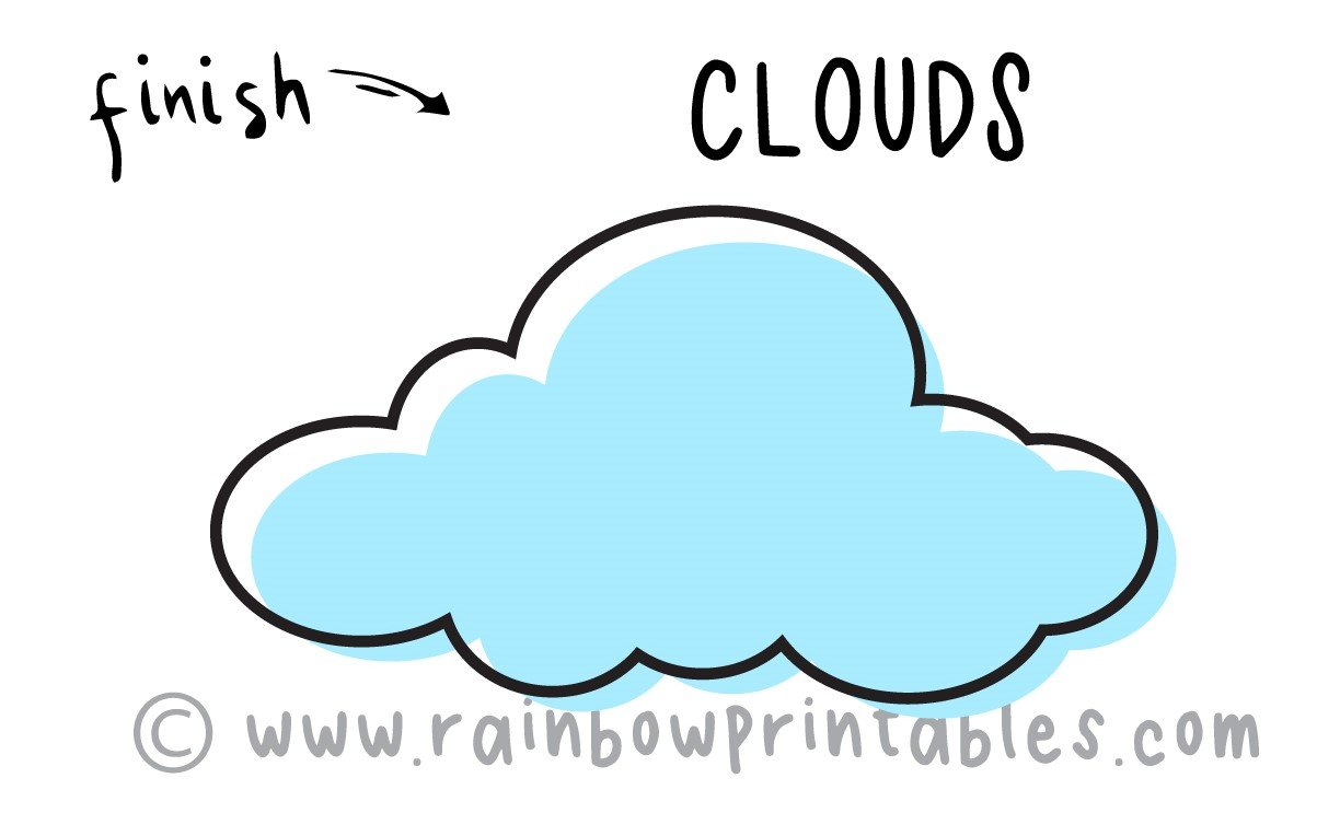 How To Draw (Cumulus) Clouds for Kids ☁️ + 15 Facts about Clouds