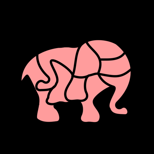 FREE ELEPHANT PUZZLE DIY GAME Free Clipart Coloring Pages for Kids Adults Art Activities Line Art