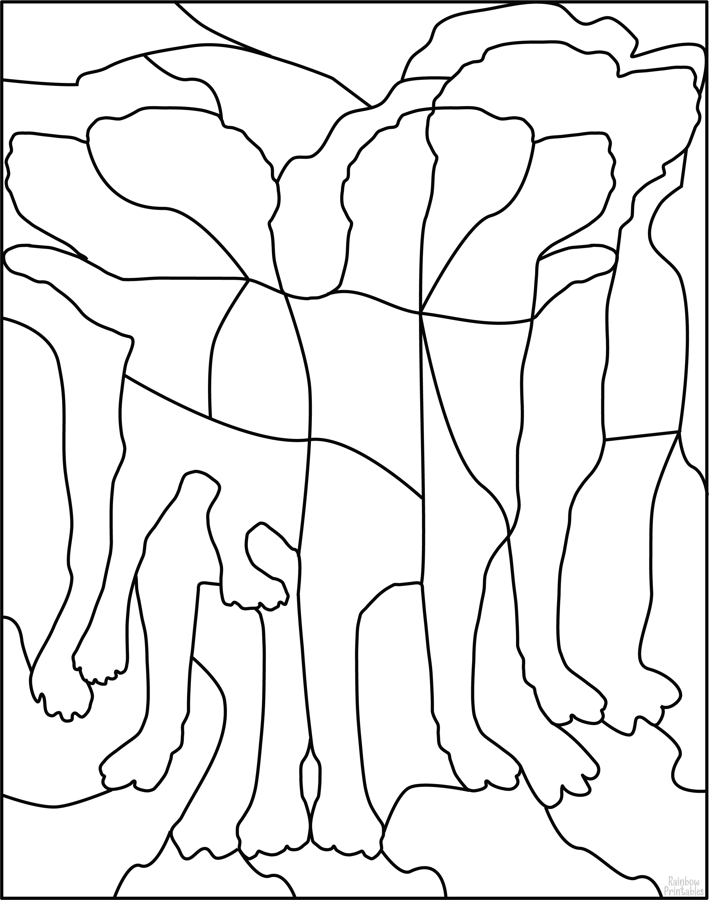 FREE DOG PUZZLE DIY GAME Free Clipart Coloring Pages for Kids Adults Art Activities Line Art