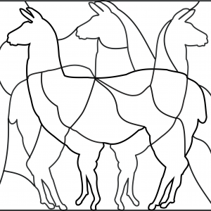 FREE LLAMA PUZZLE DIY GAME Free Clipart Coloring Pages for Kids Adults Art Activities Line Art