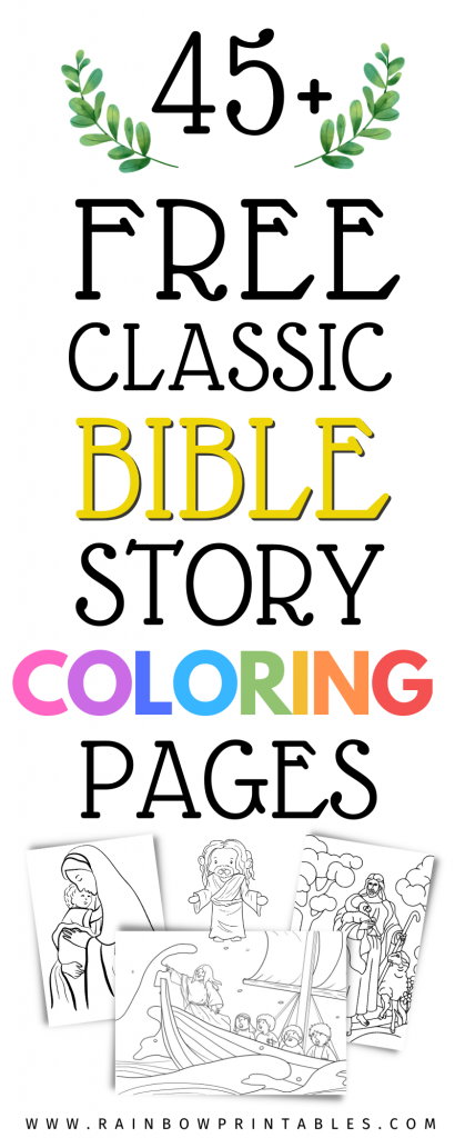 Free Religious Themed Coloring Pages - Rainbow Printables