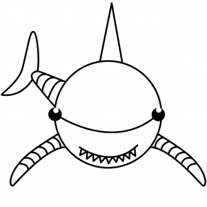 Free Shark Coloring Pages for Kids Album Set
