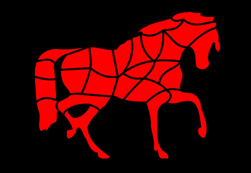 HORSE FREE ANIMAL PUZZLE DIY GAME Free Clipart Coloring Pages for Kids Adults Art Activities Line Art-03