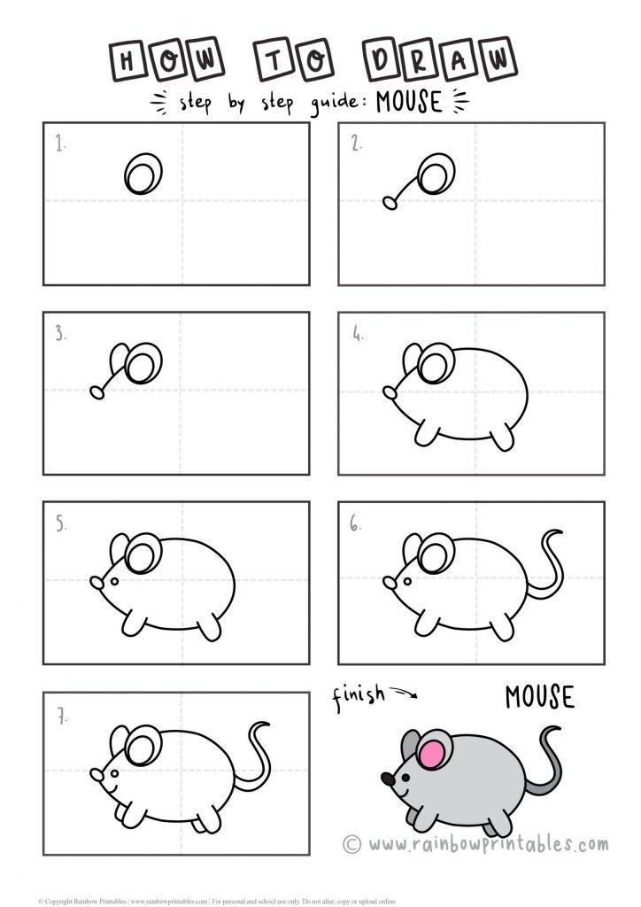 How To Draw MOUSE Step by Step for Kids Easy Simple Beginner Art Tutorial
