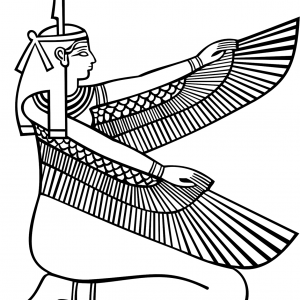 GODDESS MAAT TRUTH OF JUSTICE Free Clipart Coloring Pages for Kids Adults Art Activities Line Art