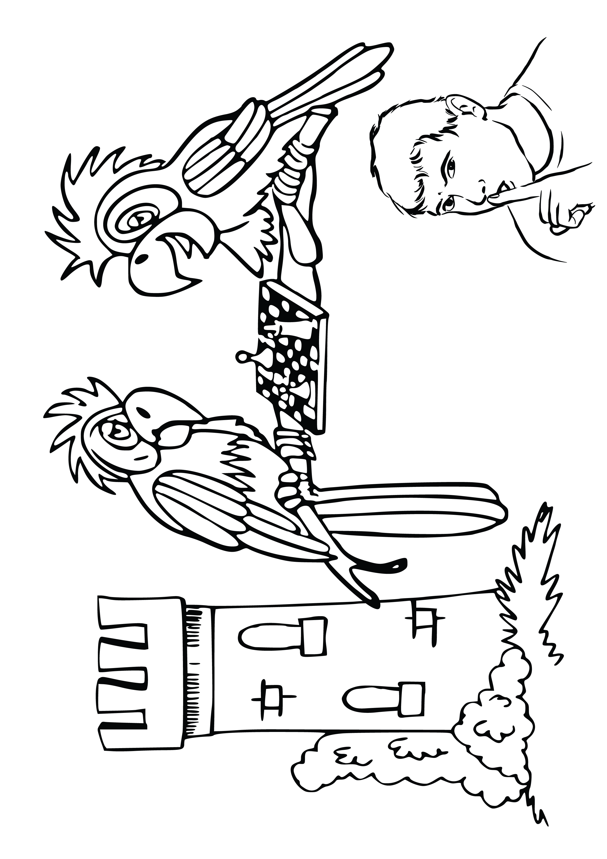 People Free Clipart Coloring Pages for Kids Adults Art Activities Line Art 34