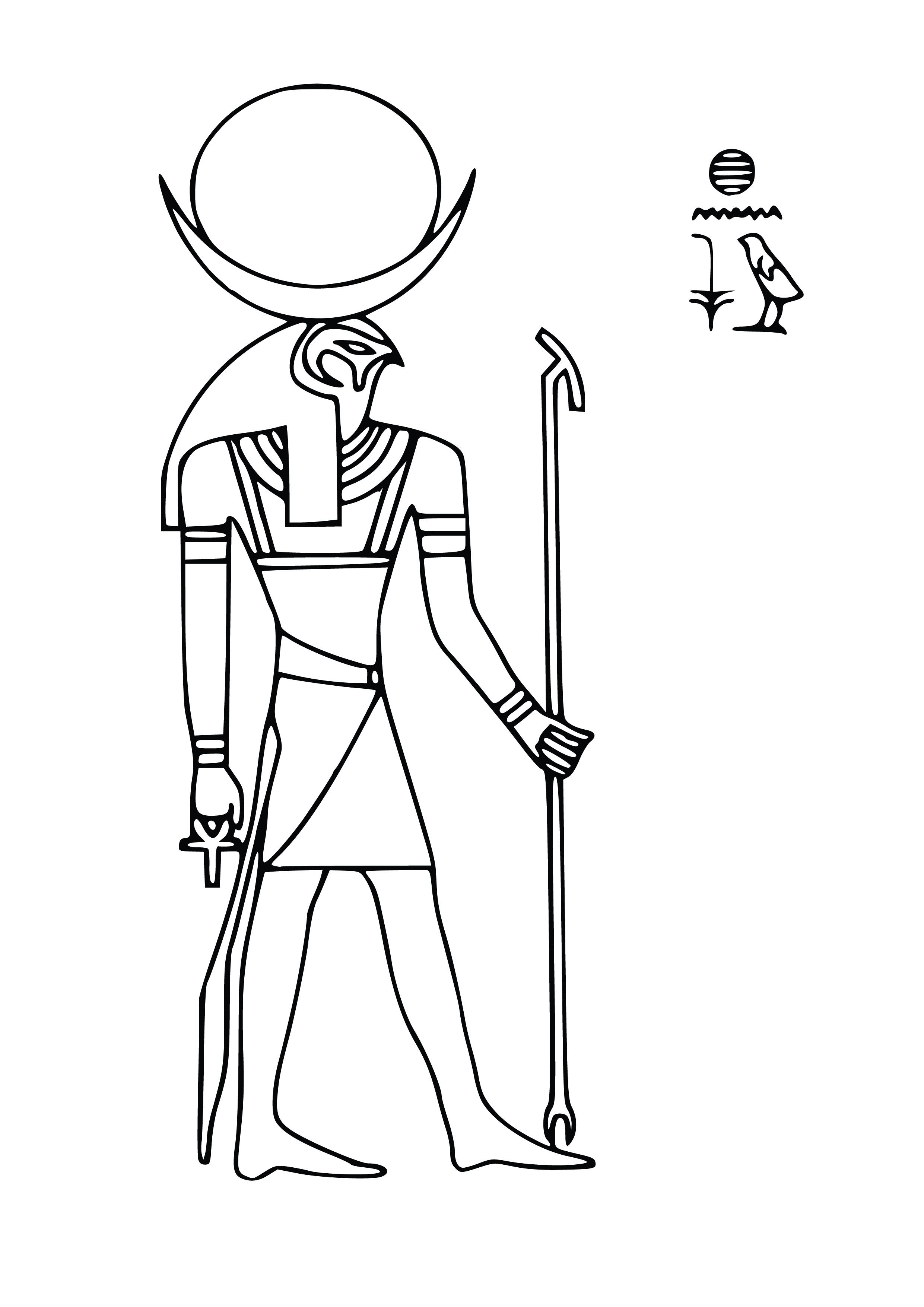 EQYPTIAN GOD Free Clipart Coloring Pages for Kids Adults Art Activities Line Art