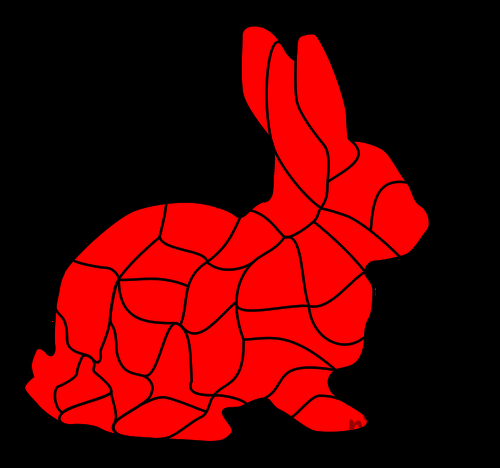 BUNNY RABBIT - FREE ANIMAL PUZZLE DIY GAME Free Clipart Coloring Pages for Kids Adults Art Activities Line Art