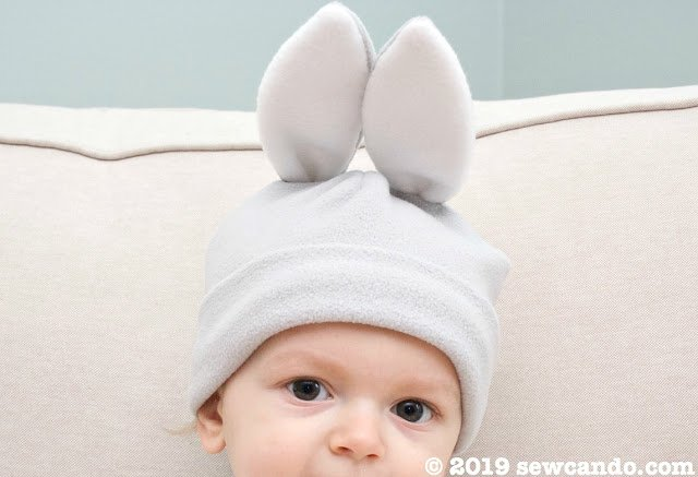sew can do bunny rabbit hat for babies and kids DIY craft