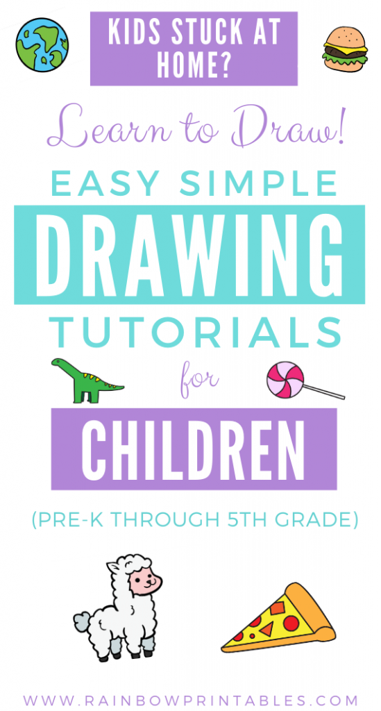 Your kids will learn to: Expand their artistic repertoire, encourage fine motor skills, practice the logical order of 3d objects to 2d shapes. Find SIMPLE things to draw! - Beginners Drawing tips, easy drawing, drawing techniques for children, drawing ideas, simple doodles, doodle drawings, simple drawing, #howtodraw #drawingtips how to draw a unicorn, pizza, dinosaur, foods etc teach kids art, cute chibi art Tutorial Guides for Kids. Art Project Ideas for Children. Drawing Simple, Cute Doodles.