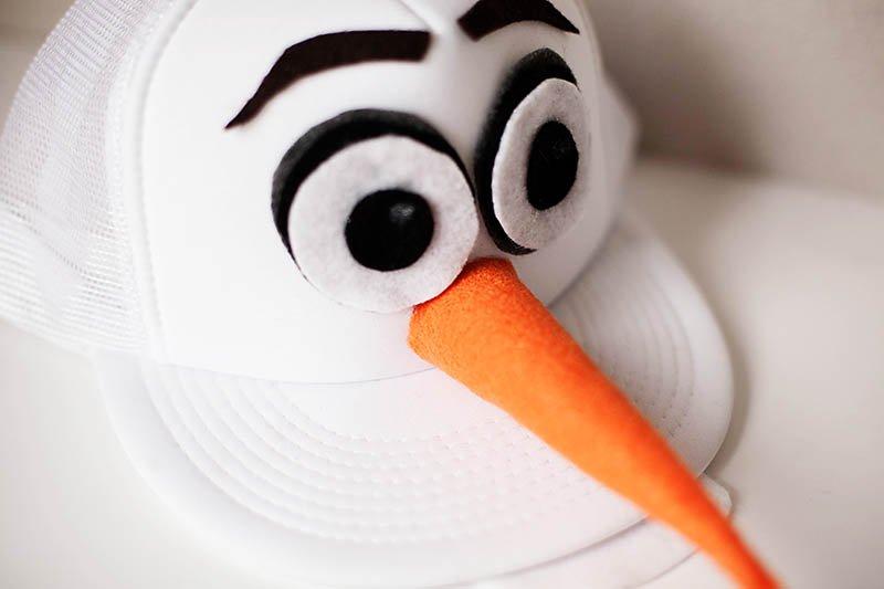 Olaf-themed cap