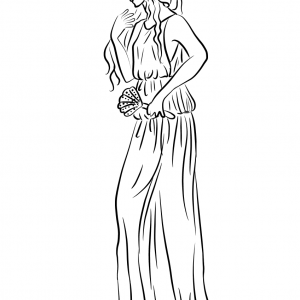 APHRODITE Free Clipart Coloring Pages for Kids Adults Art Activities Line Art