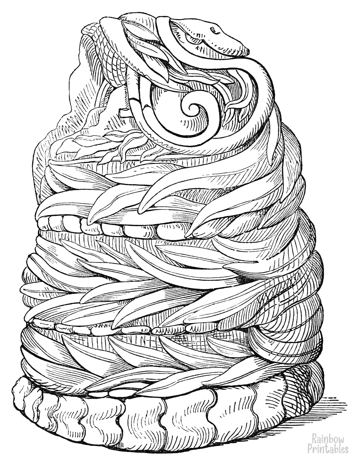 cartoon-line-art-world-cultures-serpent-in-basket-coloring-page-for-kids