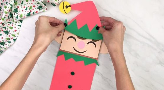 paper elf puppets