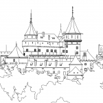Free Coloring Pages - Buildings
