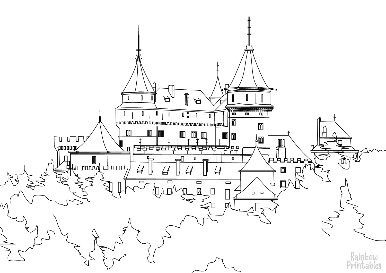 Free Coloring Pages – Buildings