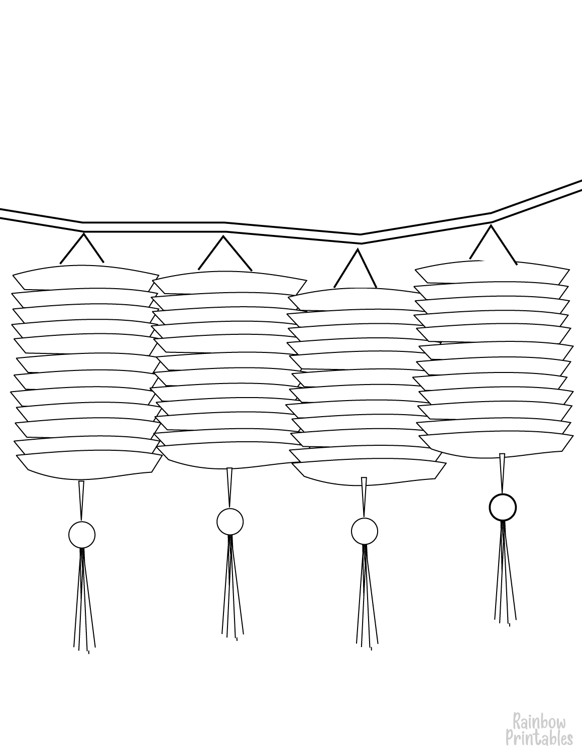 CHINESE LANTERNS-CLipart-Cartoon-Free-Clipart-Line-Drawing-coloring-page-Activity-For-Kids