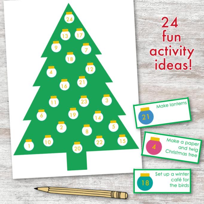 Christmas Advent Printable Worksheets for kids