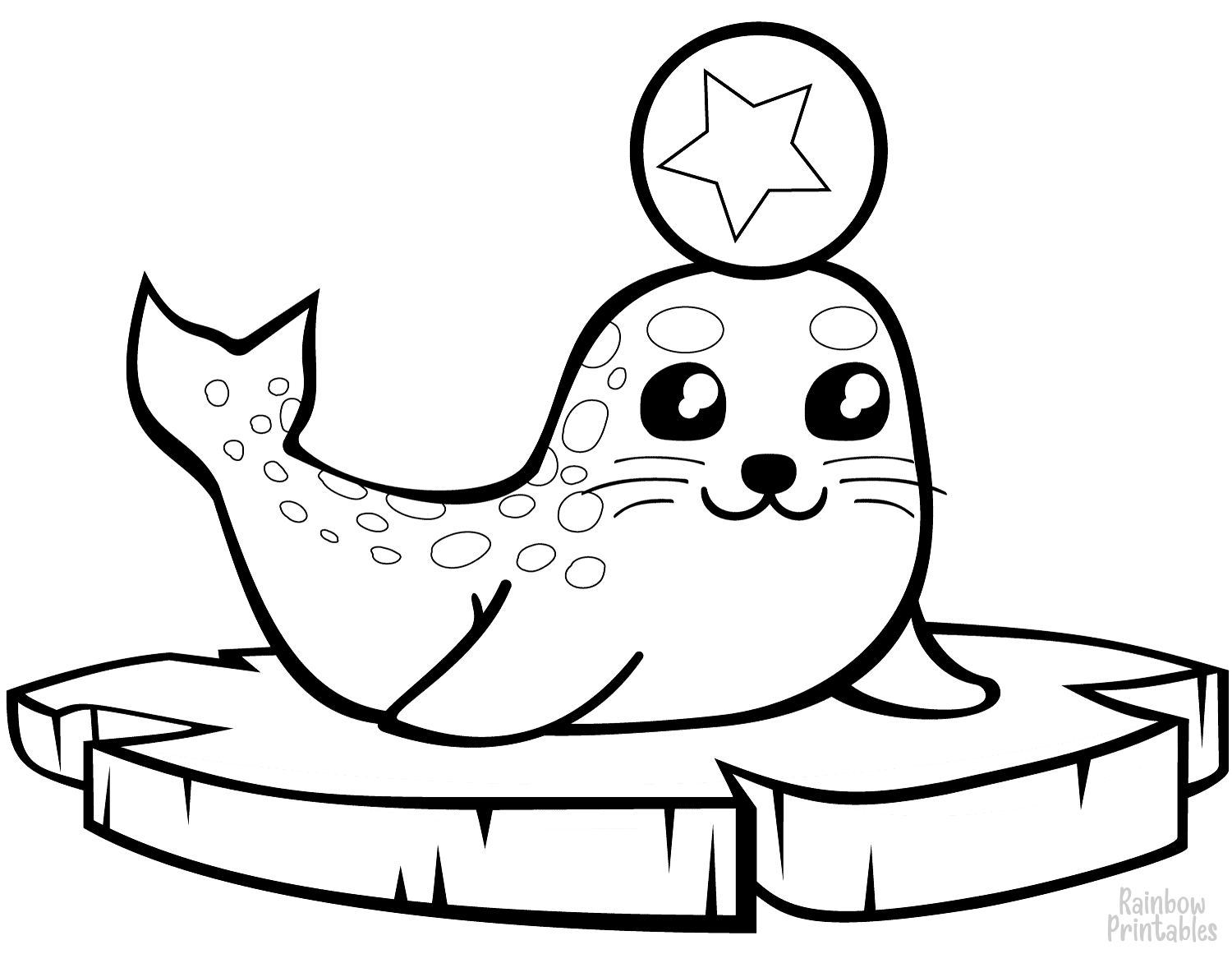 Seals Otters Walrus Coloring Pages Free Album