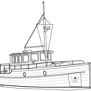 cruiser-boat-Clipart Coloring Pages for Kids Adults Art Activities Line Art