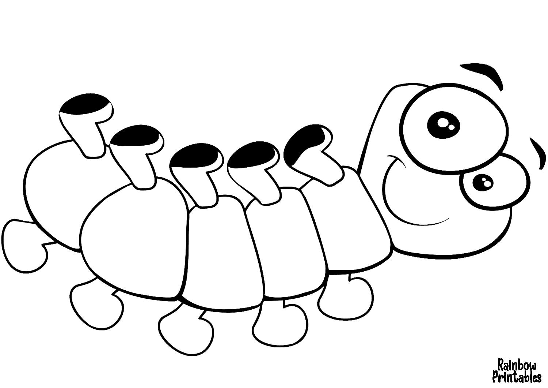 cute cartoon centipede coloring page