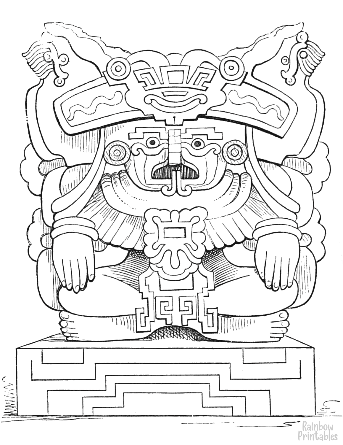 cartoon-line-art-world-cultures-oaxaca-vase-coloring-page-for-kids