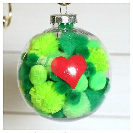 Grinch-themed ornament balls