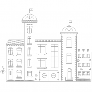 Coloring-Activity-hospital-building-coloring-page for Kids